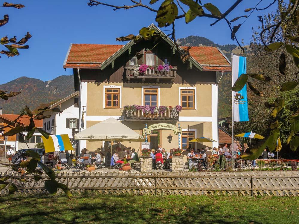 Gaststätte Schmiedbräu mit Terrasse, Unterwössen/Chiemgau